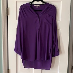 41 Hawthorn Calibri solid tan sleeve blouse